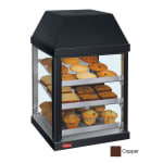 "Hatco MDW-1X 15.75"" Full-Service Countertop Heated Display Case - (3) Shelves, Copper, 120v"