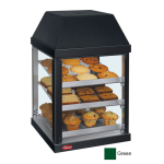 "Hatco MDW-1X 15.75"" Full-Service Countertop Heated Display Case - (3) Shelves, Green, 120v"