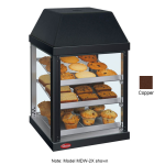 "Hatco MDW-2X 15.75"" Self-Service Countertop Heated Display Case - (3) Shelves, Copper, 120v"