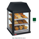 "Hatco MDW-2X 15.75"" Self-Service Countertop Heated Display Case - (3) Shelves, Green, 120v"