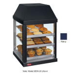 "Hatco MDW-2X 15.75"" Self-Service Countertop Heated Display Case - (3) Shelves, Navy, 120v"