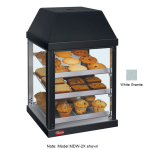 "Hatco MDW-2X 15.75"" Self-Service Countertop Heated Display Case - (3) Shelves, White, 120v"