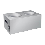 Hatco SW2-7QT Countertop Soup Warmer w/ (2) 7-qt Wells - Stainless