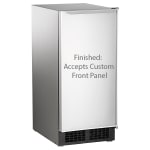 "Scotsman DCE33PA-1SSD 34""H Top Hat Undercounter Ice Maker - 30 lbs/day, Pump Drain"