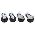 "Scotsman KBC1 Bin Caster Kit, 3.5"" dia. Wheels, 2-Standard & 2-Locking"