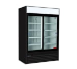 "Master-bilt MBGR48S 54"" Two-Section Glass Door Merchandiser w/ Sliding Doors, 115v"
