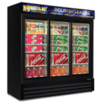 "Master-bilt MBGRP74-SL 78"" Three-Section Glass Door Merchandiser w/ Sliding Doors, 115v"