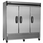 "Master-bilt MBR72-S 78"" Three Section Reach-In Refrigerator, (3) Solid Door, 115v"