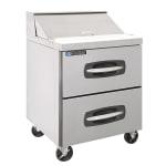 "Master-bilt MBSP2-78-001 27.5"" Sandwich/Salad Prep Table w/ Refrigerated Base, 115v"