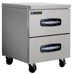 Master-bilt MBUR27-001 7-cu ft Undercounter Refrigerator w/ (1) Section & (2) Drawers, 115v