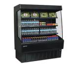 "Master-bilt VOAM60-72 60"" Vertical Open Air Cooler w/ (4) Levels, 208 230v/1ph"