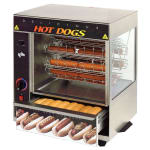 Star 175CBA Hot Dog Broiler w/ Bun Warmer, Cradle Type, 36-Dog/ 32-Bun, 120v