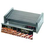 Star 50CBD CSA-120 50 Hot Dog Roller Grill w/Bun Storage - Slanted Top, 120v, CSA