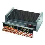 Star 50STBDE 50 Hot Dog Roller Grill w/ Bun Storage & Flat Top, 120v