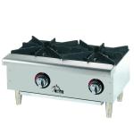 "Star 602HWF 24"" Gas Hotplate w/ (2) Burners & Manual Controls"