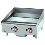 "Star 624TCHSF 24"" Gas Griddle - Thermostatic, 1"" Chrome Plate"