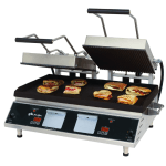 Star PGT28IE Double Commercial Panini Press w/ Cast Iron Grooved Plates, 208-240v/1ph