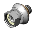 "T&S 00EE Male Union Coupling Inlets, 1/2"" IPS, 1""L Adjustable Flange"