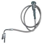 T&S B-0165 Spray Assembly & 8-ft Utility Hose, Angle Spray Valve