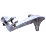 T&S B-0474 Wall Bracket, for Knee Action Valve, Cast Alum, Back Supports