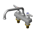 """T&S B-1111-XS Faucet, 8"""" Swing Nozzle, Deck Mounted for Thick Surface"""