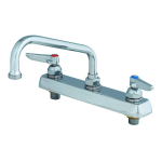 "T&S B-1121 Faucet, 8"" Swing Nozzle, Deck Mounted"