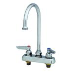 "T&S B-2392 Swivel Gooseneck Faucet, 4"" C/C, Lever Handles"