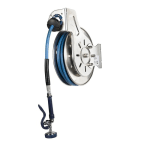 """T&S B-7132-01 Hose Reel, 35' Hose, Open, 3/8"""" ID, Stainless"""