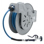 "T&S B-7242-01 Open Hose Reel w/ 50 ft Hose, 3/8"" ID & Spray Valve"