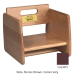 Tomlinson 1016295 Single-Height Booster Seat - Wood, Cherry