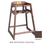 "Tomlinson 1016310 29"" Stackable High Chair w/ Waist Strap - Wood, Walnut"