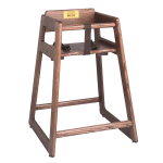 "Tomlinson 1016509 29"" Stackable Juvenile High Chair w/ Waist Strap - No Crossbar, Wood, Natural"