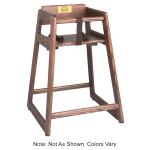 "Tomlinson 1018774 36"" Stackable High Chair w/ Waist Strap - Wood, Walnut"