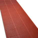 "Tomlinson 1035072 General Purpose Multi-Trac Roll Mat, 36 x 432"", Red"