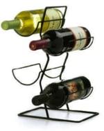 Anchor 25535MR Wire Wine Rack w/ 4-Bottel Capacity, Black