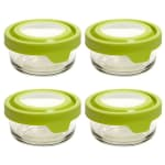 Anchor 91688 4-cup TrueSeal Round Storage Container w/ Cover, Crystal, Green