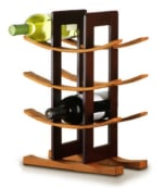 Anchor 98617 Wine Rack w/ 9 Bottle Capacity & Espresso Exterior, Bamboo