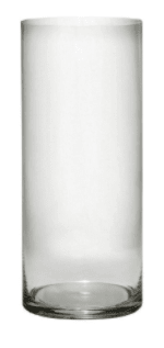 "Anchor 99055 14"" Cylinder Vase, Crystal"