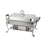 Winco 408-1 Full Size Chafer w/ Lift-off Lid & Chafing Fuel Heat