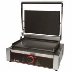 Winco ESG-1 Commercial Panini Press w/ Cast Iron Smooth Plates, 120v