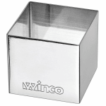 """Winco SPM-22S Square Pastry Mold - 2"""" x 2"""", Stainless"""