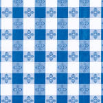 "Winco TBCS-52B Square Table Cloth, PVC Material w/ Flannel Backing, 52 x 52"", Blue"