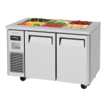 Turbo Air JBT-48 2-Section Refrigerated Buffet Table w/ Swing Doors, 10.9-cu ft, 115v