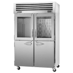 "Turbo Air PRO-50R-GSH 51.75"" Two Section Reach-In Refrigerator, (2) Solid Doors & (2) Glass Doors, 115v"