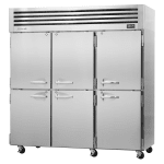 "Turbo Air PRO-77-6F-N 77.75"" Three Section Reach-In Freezer, (6) Solid Doors, 115v"