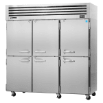 "Turbo Air PRO-77-6R 77.75"" Three Section Reach-In Refrigerator, (6) Solid Doors, 115v"