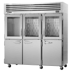 "Turbo Air PRO-77R-GSH 77.75"" Three Section Reach-In Refrigerator, (3) Solid Doors & (3) Glass Doors, 115v"
