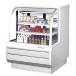 "Turbo Air TCDD-48H-R 48.5"" Full Service Deli Case w/ Curved Glass - (3) Levels, 115v"