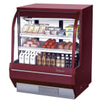 "Turbo Air TCDD-48H-R-N 48.5"" Full Service Deli Case w/ Curved Glass - (3) Levels, 115v"