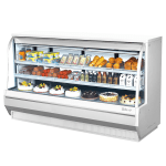 "Turbo Air TCDD-96-4-H 96.5"" Full Service Deli Case w/ Curved Glass - (3) Levels, 115v"
